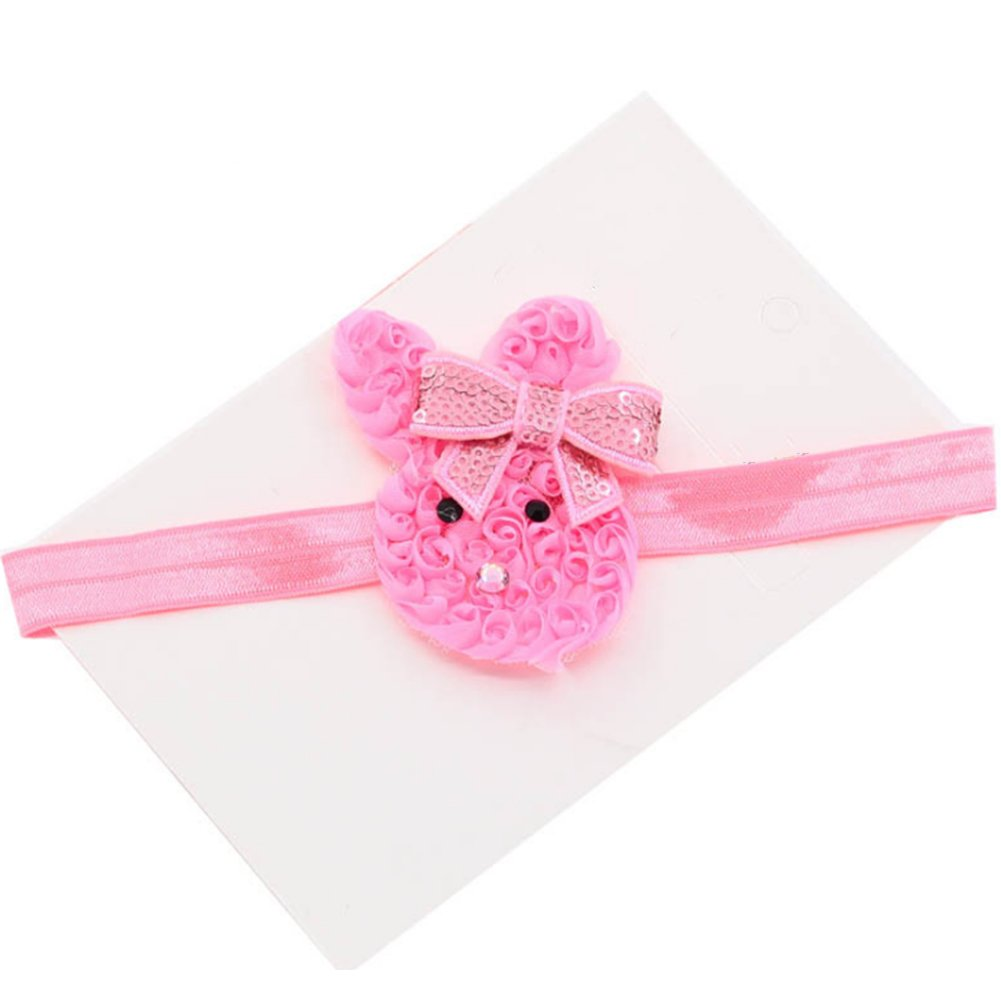 Amazon.com  SHEMILY Cute Baby Bunny Headband Sequin Bows Rabbit hair band  Easter Gift TH02 (Pink)  Clothing c30bdf07de5