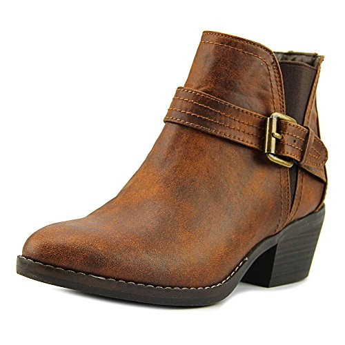 White Mountain Womens Hadley Closed Toe Ankle Fashion Boots, Cognac, Size 9.5