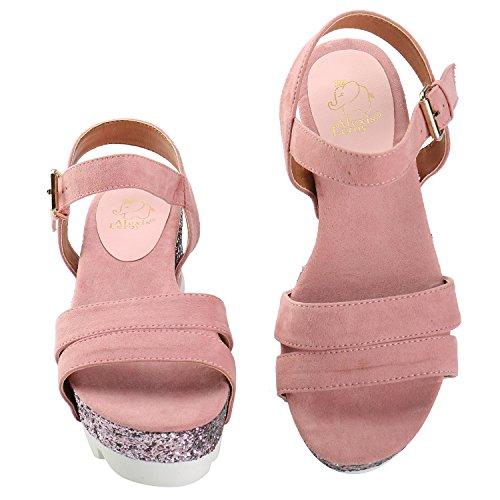 Sandalias De Plataforma Mujer Sequins Tacón Alexis Leroy Rosa Para pEwxqap4A