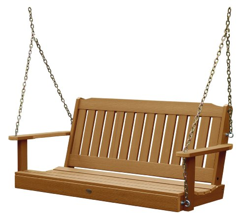 Highwood AD-PORL2-TFE Lehigh Porch Swing, 4 Feet, Toffee
