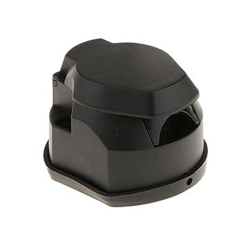 D Dolity 1 x 7-poliger Sockel Anhängeranschluss Stecker Adapter für ...