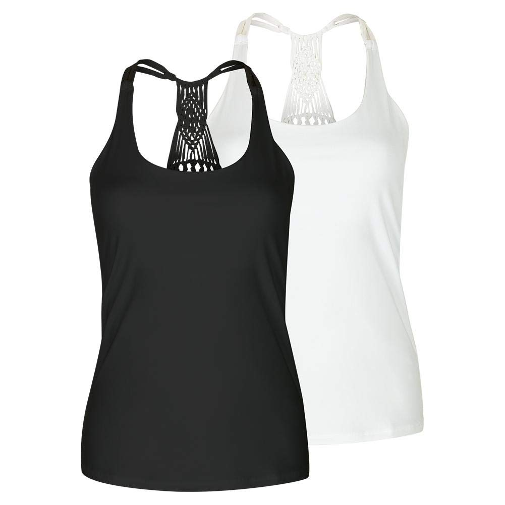 Lucky In Love Women`s Macrame Tennis Cami - TennisExpress