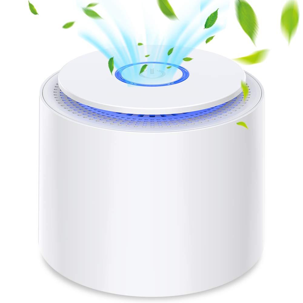Purificateur d'air Portable avec HEPA Filtre, Pas d'ozone, USB Épurateur d'air de Bureau avec Veilleuse et Aromathérapie, Enlevez la Poussière, le Pollen, la Fumée, les Odeurs et les Squames d'animaux product image