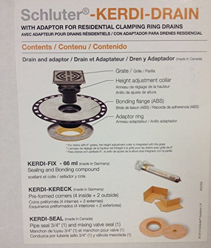 Schluter Kerdi Adaptor Drain Stainless-ABS Version