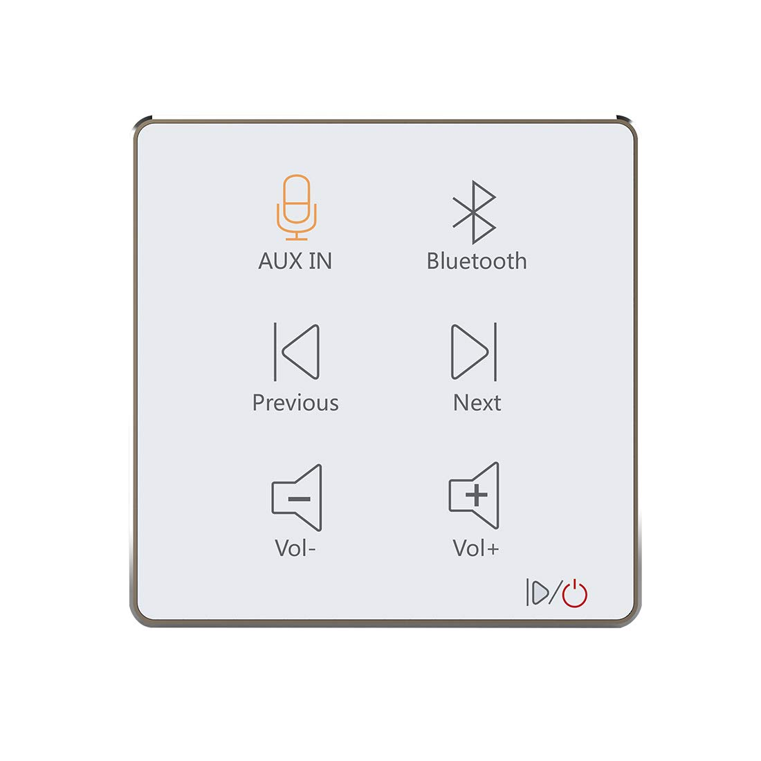 HELMER Bluetooth Amplifier in Wall, Home Stereo Audio System with Touch Key, White, L50