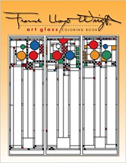 frank lloyd wright coloring pages - frank lloyd wright art glass coloring book