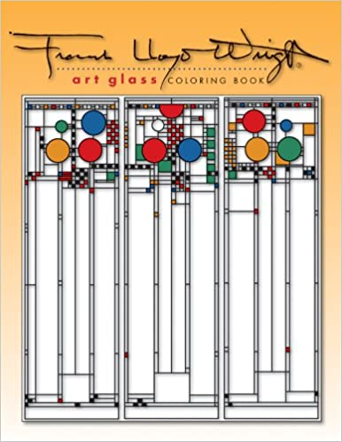 Frank Lloyd Wright Art Glass Coloring Book Pomegranate