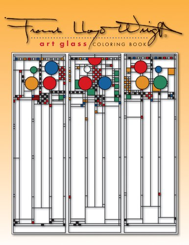 Frank Lloyd Wright Art Glass Coloring Book