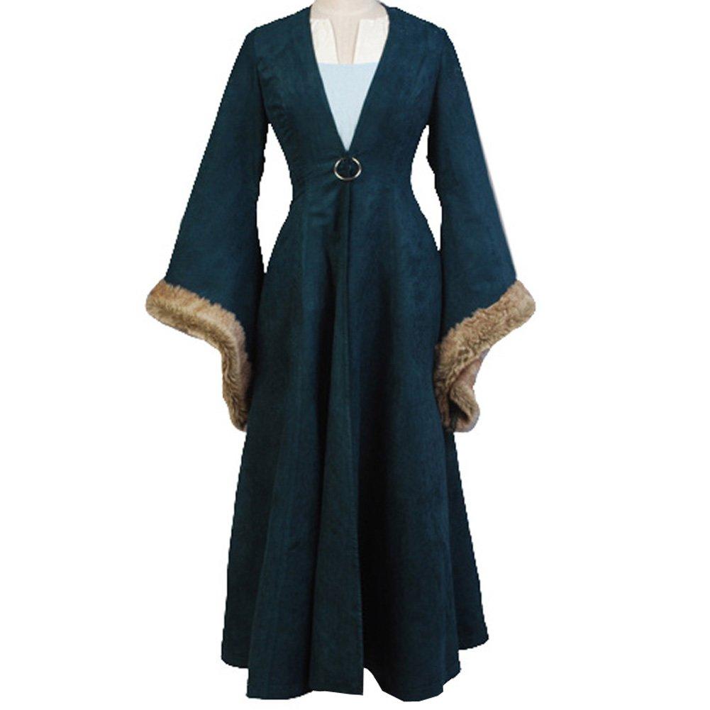CosplaySky Game of Thrones Costume Catelyn Stark Dress Coat XX-Large