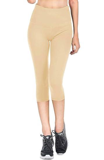 425d15f168358 VIV Collection Signature Women's Capri Solid Brushed Leggings Mid ...