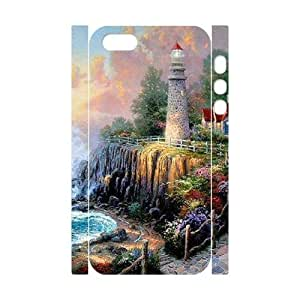 LZHCASE Diy Customized Case Lighthouse 3D Case for iPhone 5,5S [Pattern-1] by supermalls