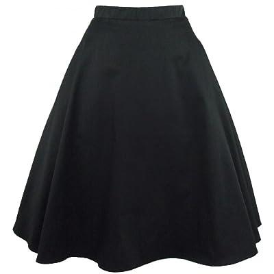 Women's Hemet Black Full Circle Skirt