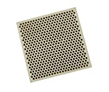 Honeycomb Ceramic Block Square w/ 537 Holes (2 mm Diameter) 66 mm x 66 mm x 12.5 mm Jewelry Soldering Tool