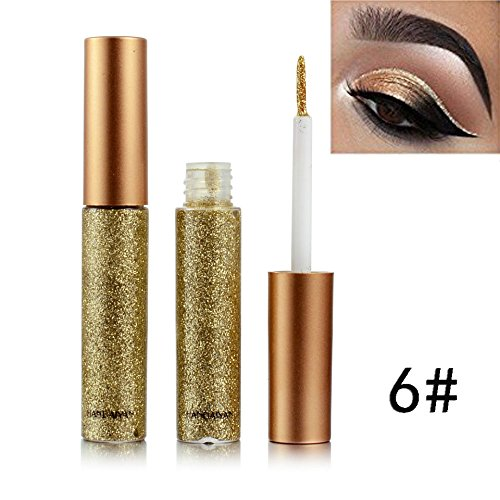 Glitter Liquid Eyeliner for Metallic Cat Eyeliner Shimmer Smoky Eyeshadow,Waterproof Long Lasting Suit for Halloween Makeup Party by BOYON -