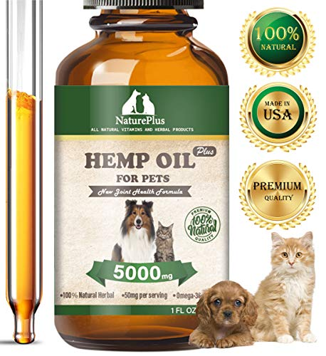 HAPIPET Hemp Oil Dogs Cats,Omega Rich 3, 6 & 9-Help Separation Anxiety, Stress Relief, Seizures, Chronic Pains,Joint…
