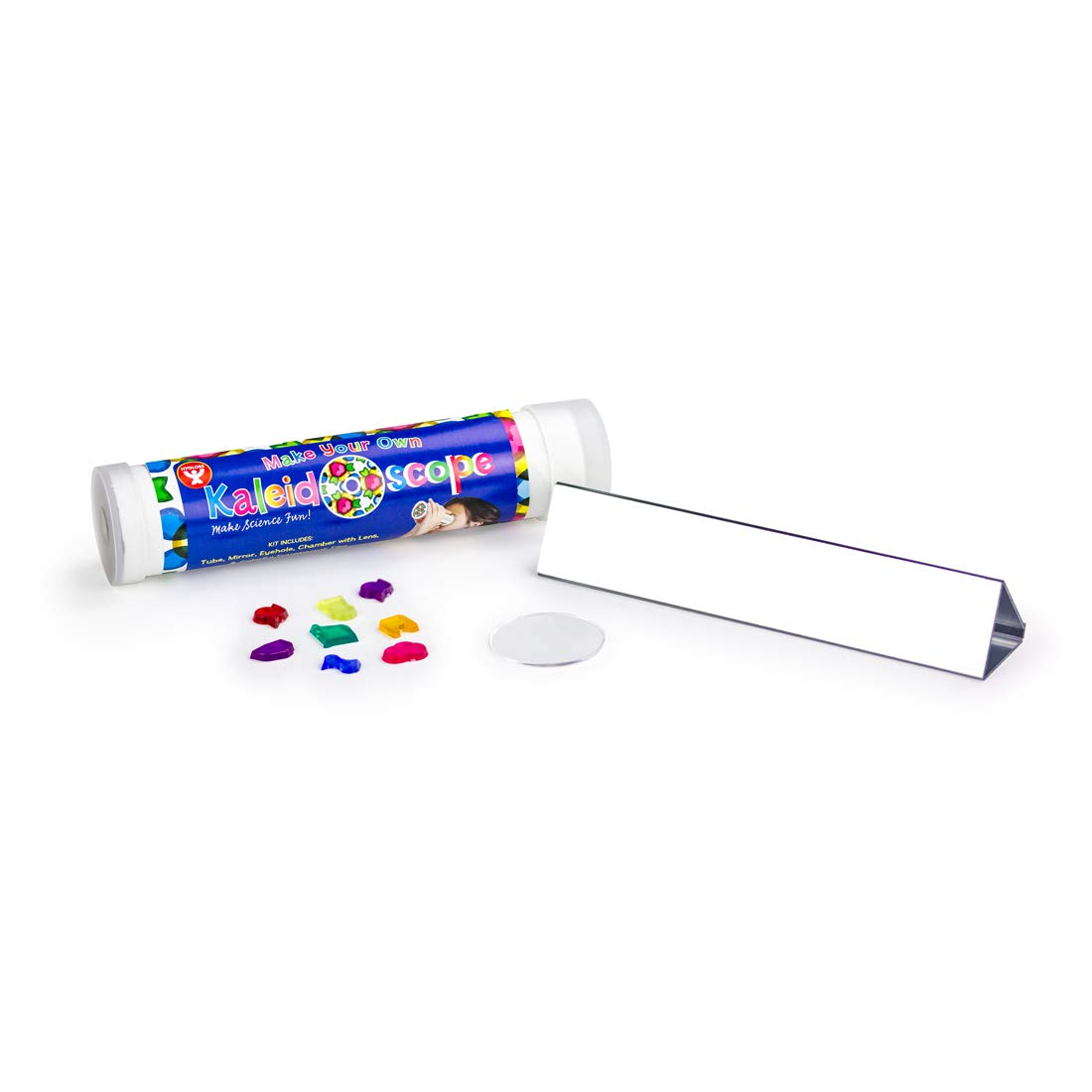 Hygloss Products Kaleidoscope Kit For Kids - Make Your Own Kaleidoscopes - 6-3/4 x 1-3/8 Inches, 12 Pack by Hygloss