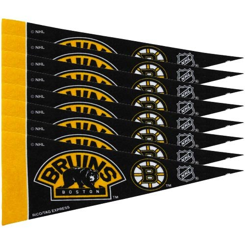NHL Bruins 8 Pc Mini Pennant Pack Sports Fan Home Decor, Multicolor, One Size