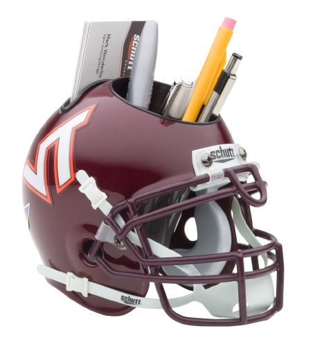 NCAA Virginia Tech Hokies Mini Helmet Desk Caddy - Tech Hokies Authentic Football Helmet