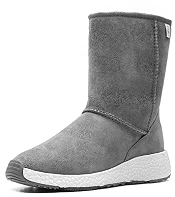 Amazon.com | Aumu Womens Mini Sheepskin Winter Boots Fur