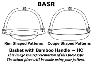 Tabletops Unlimited Soleil Basket with Bamboo Handle HC, Fine China Dinnerware