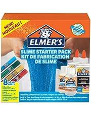 Save on Elmer's - Kit iniciación slime con pegamento Elmer, pegamento transparente, barras pegamento con purpurina y solución activadora líquido mágico para slime, 8unidades: 472 ml and more