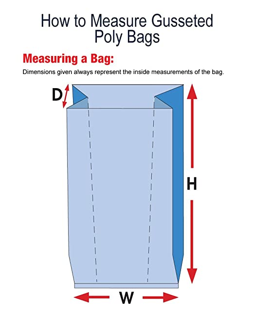 - AB-59-3-54W White 4 Bottom Gusset 12 x 18 1.75 mil Poly Bag with Drawtape 500 Bags
