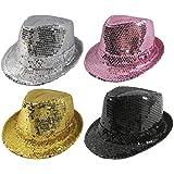 Karabu Lentejuelas sombrero hombre mujer Rosa Plata púrpura negro ... 0f607323628