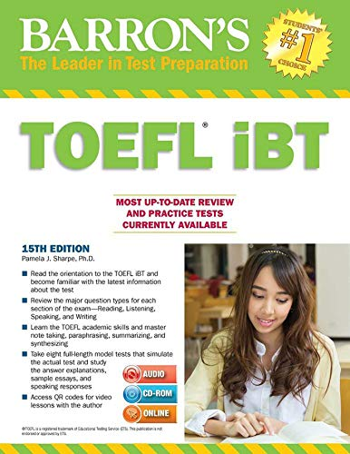 - Barron's TOEFL iBT with CD-ROM and MP3 audio CDs