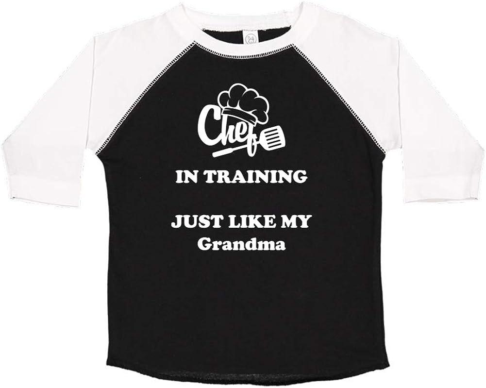 Toddler//Kids Raglan T-Shirt Chef in Training Just Like My Grandma