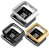 greatgo For Fitbit Ionic Case Protector Soft Shock proof Protective Slim Frame Durable Cover Accessories for Ionic smartwatch Women Men (classic gold silver black)