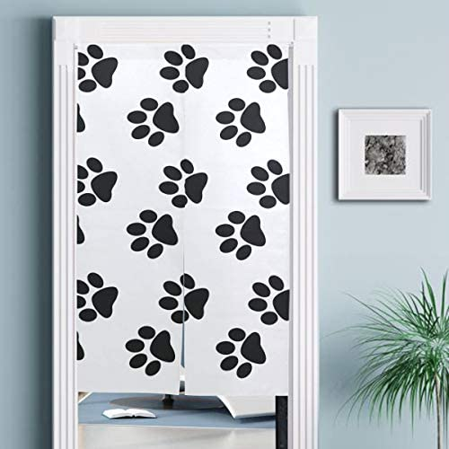 Jacksome Dogs Palms Home Japanese Noren Doorway Curtain Kitchen Bedroom Bathroom Tapestry 34 Width x 56.3 Long