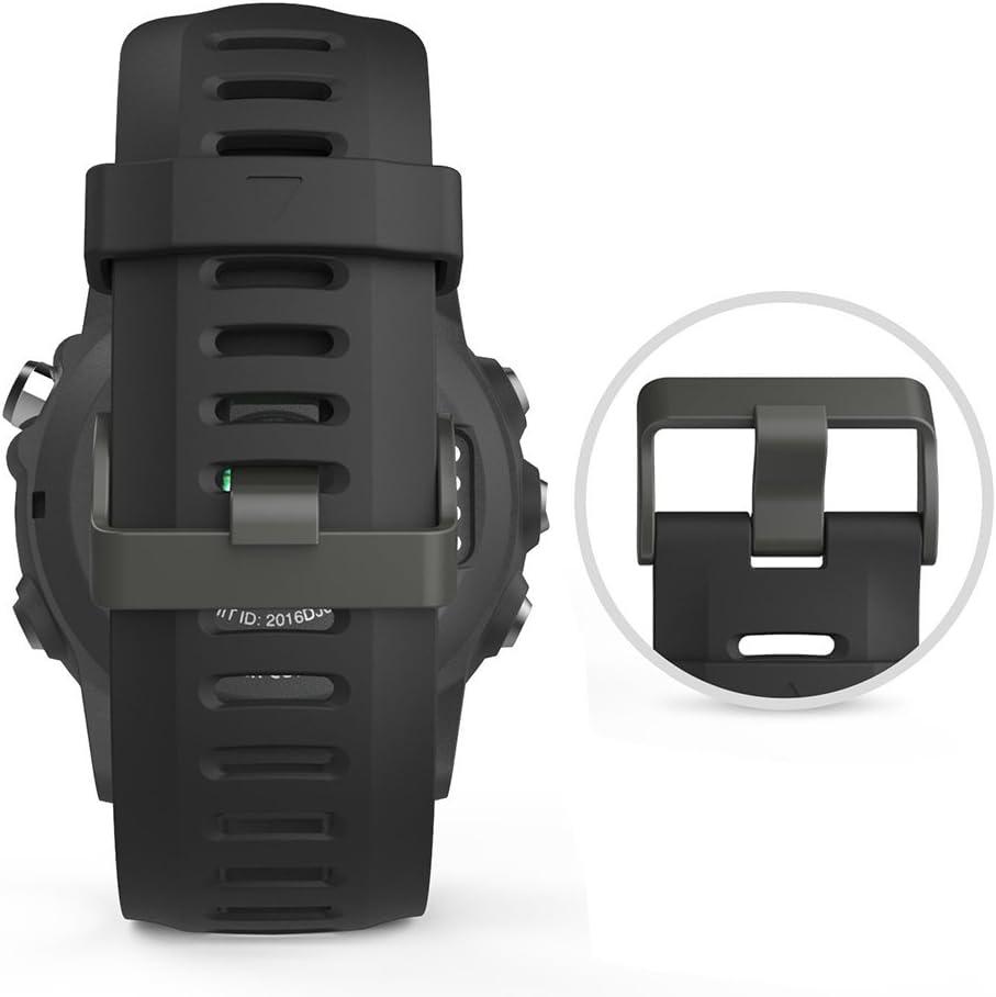 Digit.Tail 26mm Silicone Sport Replacement Band Bracelets avec Connecteurs et Torx Tournevis Accessoires pour Garmin Fenix 2 Fenix 3 Blanc Fenix 3 HR//Fenix 5X