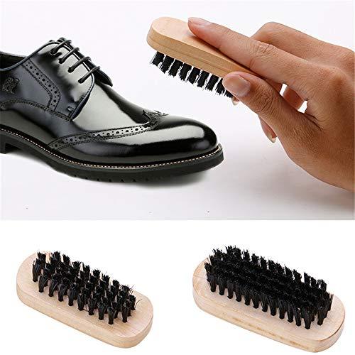 Ensemble de 9 Kit de cirage de chaussures Brosse de soins spéciaux Ensemble de chaussures en cuir Entretien du nettoyage… 3