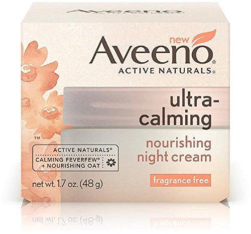 AVEENO Active Naturals Ultra-Calming Nourishing Night Cream, Fragrance Free 1.70 oz (7 -