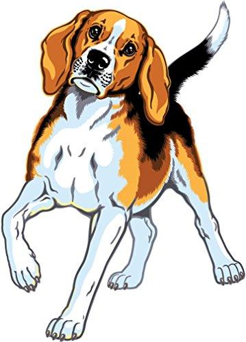 Beagle Breed Dog Home Decal Vinyl Sticker 10'' X (Beagle Dog Sticker)