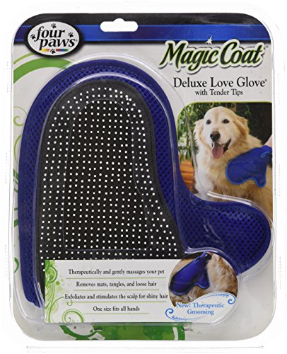 Four Paws Magic Coat Dog Grooming Deluxe Love Glove With Tender Tips by Four Paws (Image #1)