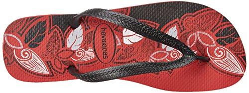 Havaianas Mens Aloha Flip-flop Apache Rosso / Nero