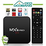 GooBang Doo 2017 Model MXQ Pro Android 6.0 TV Box Amlogic S905 64 Bits Quad Core and Supporting 4K (60Hz) Full HD /H.265 /WiFi 2.4GHz