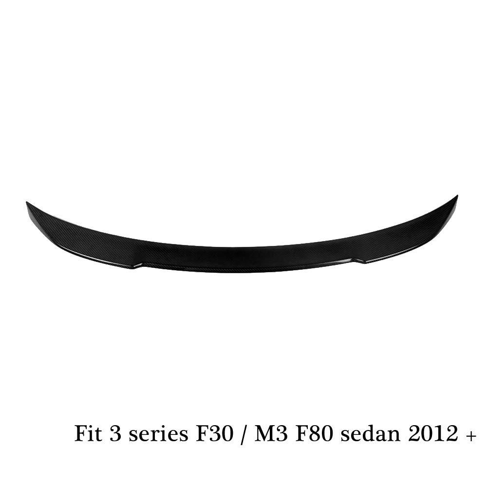 CS style carbon fiber rear trunk spoiler for 3 series F30 2012+