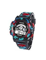 TOOPOOT® Waterproof Children Boy Multifunction Sports Electronic Wrist Watch (Red1)