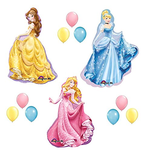 (DISNEY PRINCESS BALLOONS SET sleeping beauty belle cinderella party birthday by)