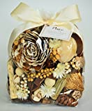 Manu Home Large Vanilla Potpourri bag~ The delectable scent of authentic vanilla bean blended with warm woods and amber—all in a colorful mix that fills a room with fragrance ~Made in the USA!