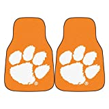 Clemson University Orange Carpet Car Floor Mats - 2-Piece
