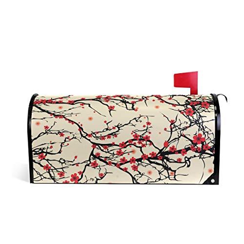 ALAZA Japanese Cherry Blossom Sakura Tree Mailbox Cover Standard Size-18