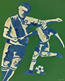 Oopsy Daisy Mosaic Soccer Player Stretched Canvas Wall Art by Jones and Eggy, 24 by 30-Inch