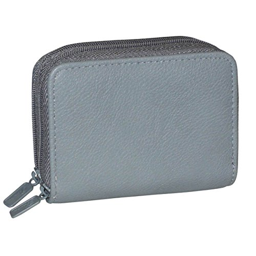 Buxton RFID Accordion Double Zippered Wizard Wallet (Quarry) (Grommet Gift Card)