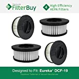 4 - Eureka DCF-19 (DCF19) Washable & Reusable Cartridge Replacement Filters, Part # 63950. Designed by FilterBuy to fit Eureka Boss Whirlwind Lite 450 Upright Vacuum Cleaner