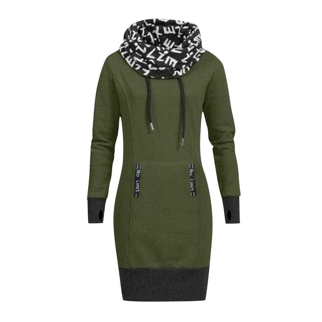 Willow S Women Valentines Day Fashion Comfy Long Sleeve Letter Print Collar Hooded Casual Dress Blouse