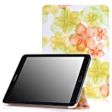 MoKo Samsung Galaxy Tab S2 9.7 Case - Ultra Slim Lightweight Smart-shell Stand Cover Case for Samsung Galaxy Tab S2 9.7 Android 5.0 2015 Version, Floral GREEN