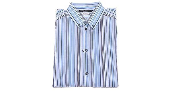 Dolce & Gabbana 2702J Camicia uomo Gold Cotton Multicolor Stripes Shirt Man [39 (15 1/2)]: Amazon.es: Ropa y accesorios